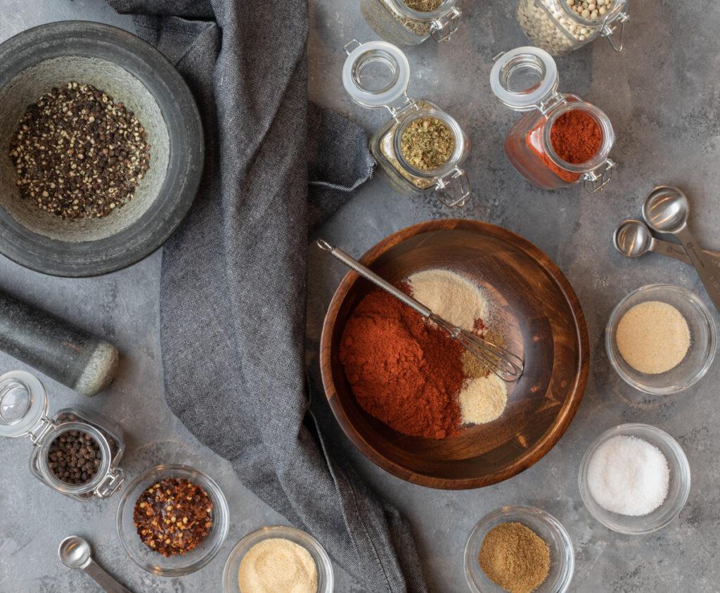 Blackening Seasoning Ingredient Overhead