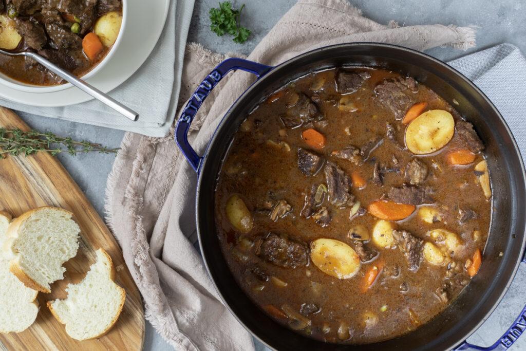 Dutch Oven Beef Stew in Staub
