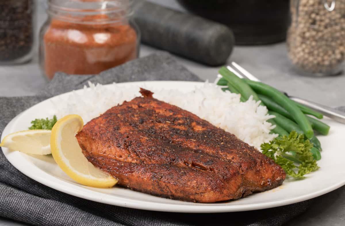 Blackening seasoning for salmon