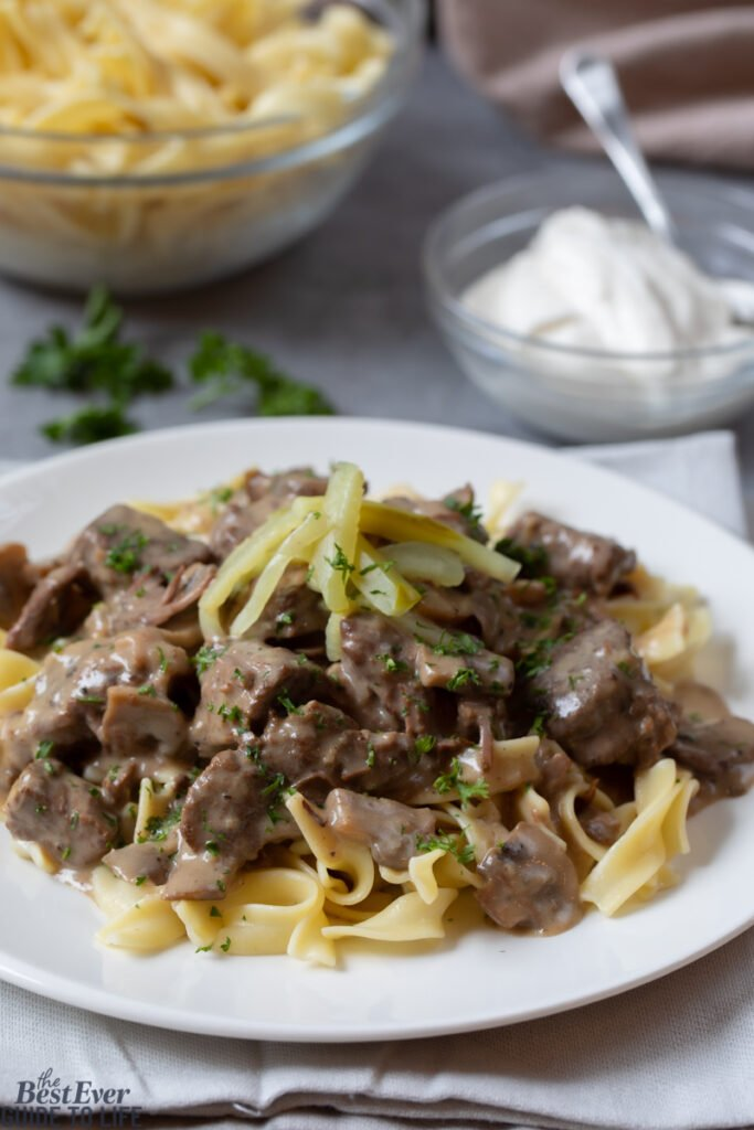 Recipe for Slow Cooker Beef Stroganoff