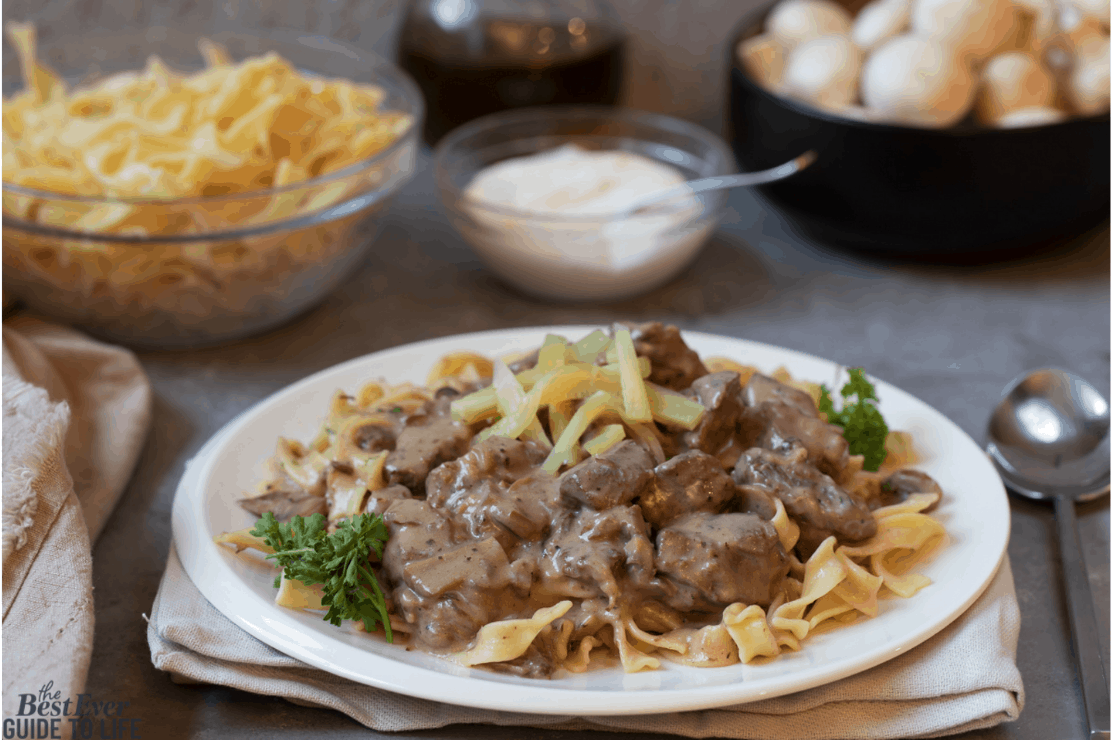 slow cooker beef stroganoff home