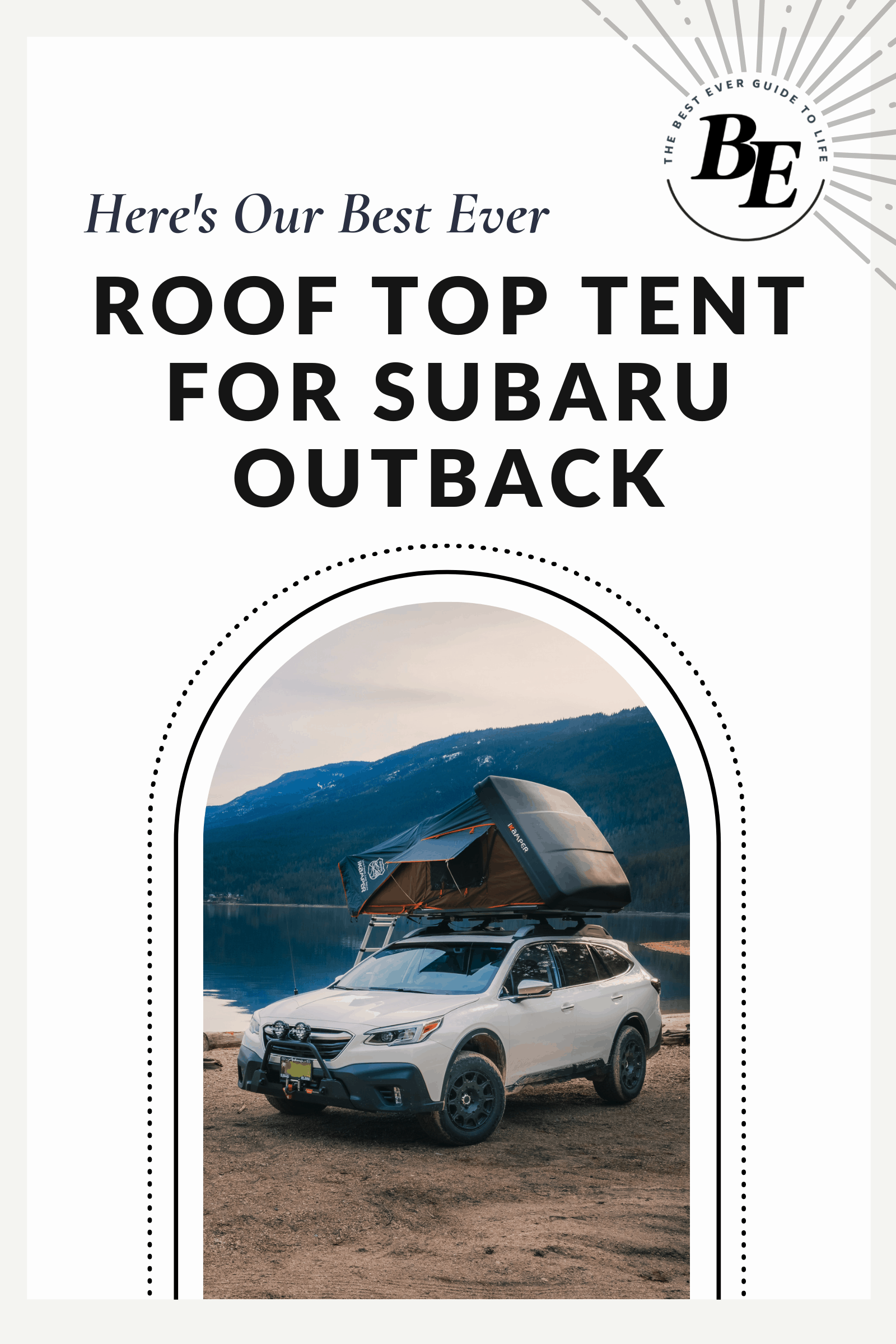 subaru outback roof top tent