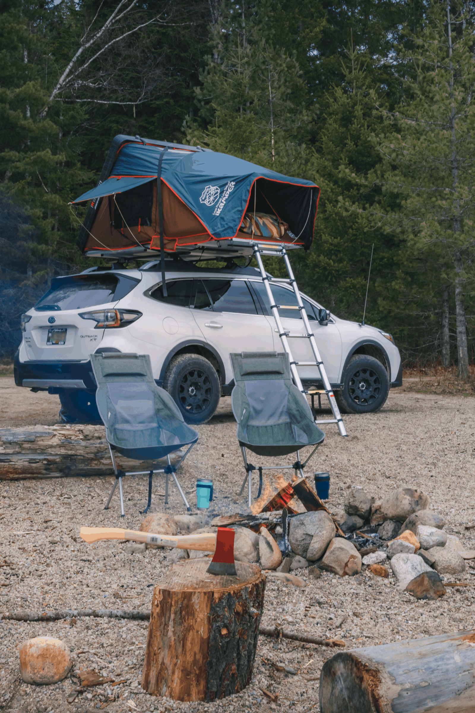 subaru outback roof top tent hard shell
