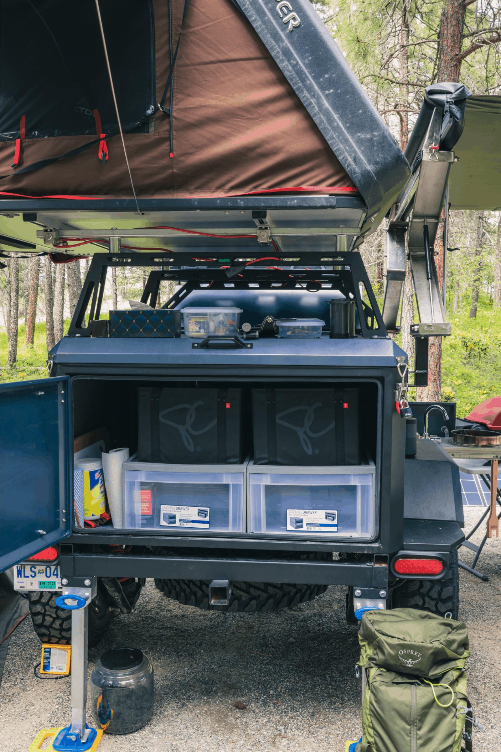 camping off road trailer organization