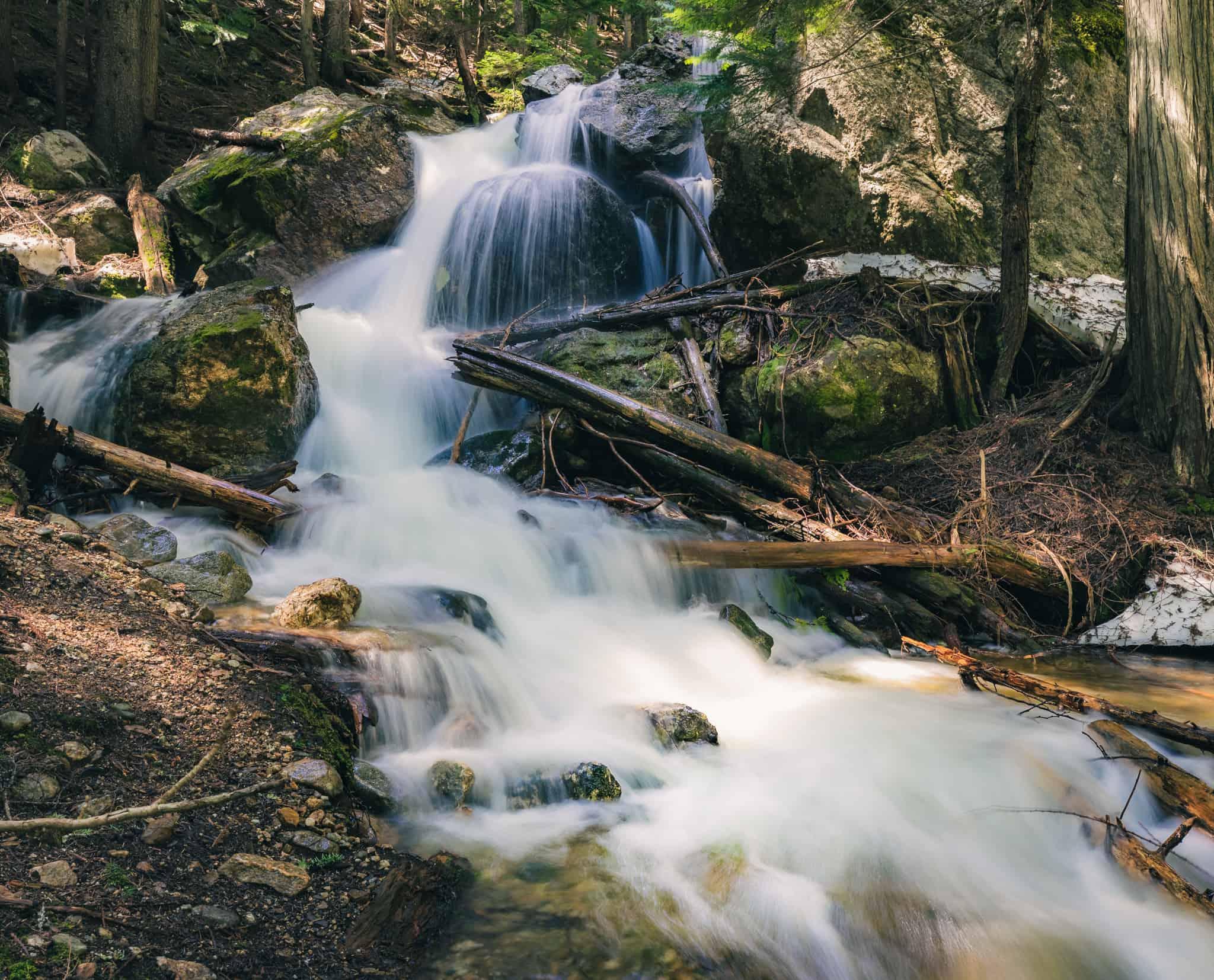 Revelstoke Waterfalls Broken Bridge