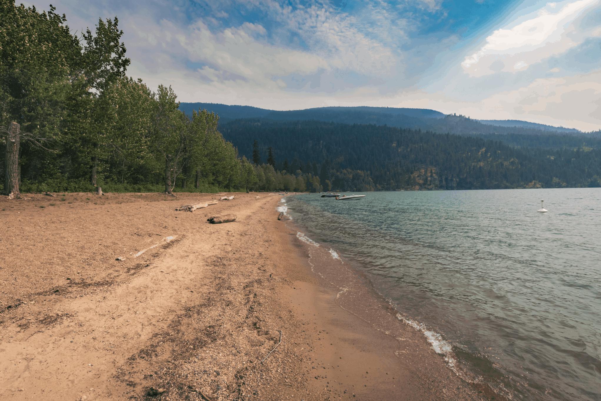 Kalamalka Lake Beach Cosens Bay